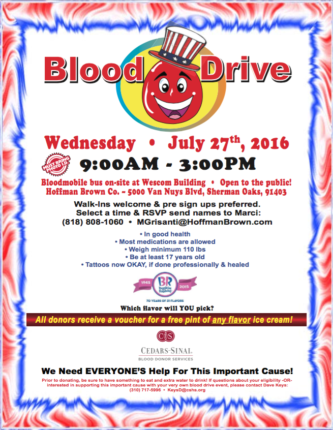 Hoffman Brown Blood Drive