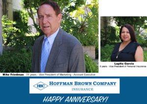 HBC Honors April Anniversaries of Teammates!