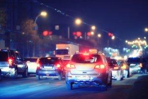 traffic on a freeway