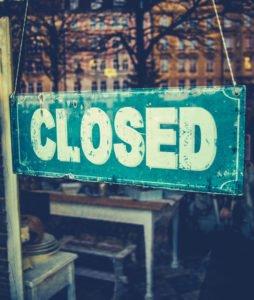 business door closed