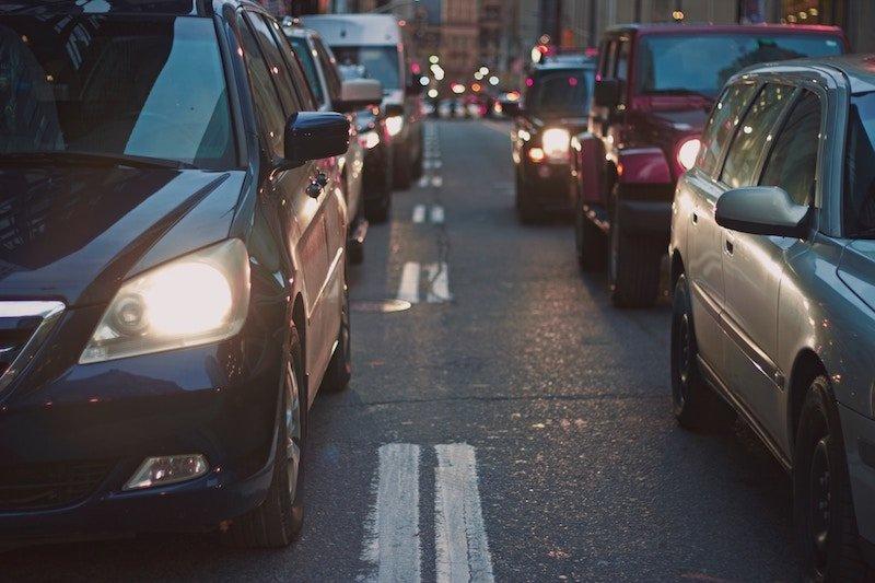 cars stuff in traffic